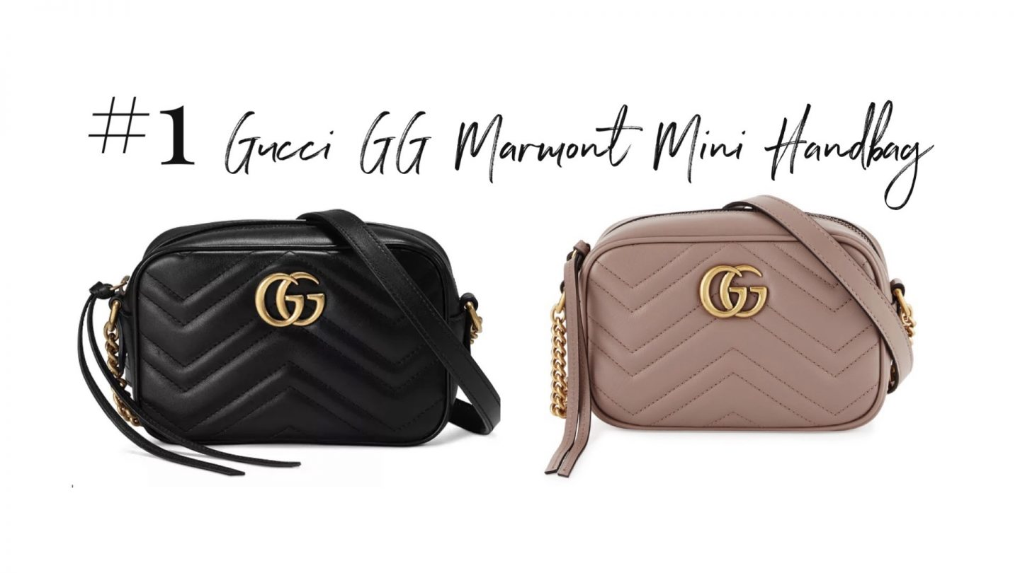 best 2019 purchases featured by top San Diego life and style blog, Navy Grace.: Gucci GG Marmont Mini Handbag | 2019 Favorite Products by popular San Diego life and style blog, Navy Grace: image of a Gucci GG Marmon mini handbag.