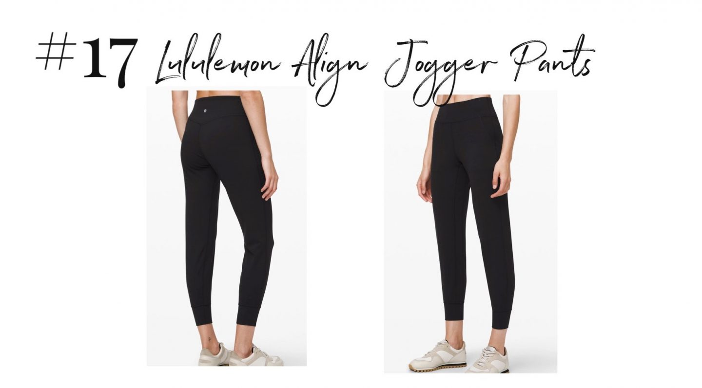 best 2019 purchases featured by top San Diego life and style blog, Navy Grace: Lululemon jogger pants | 2019 Favorite Products by popular San Diego life and style blog, Navy Grace: image of Lululemon Align Jogger Pants.