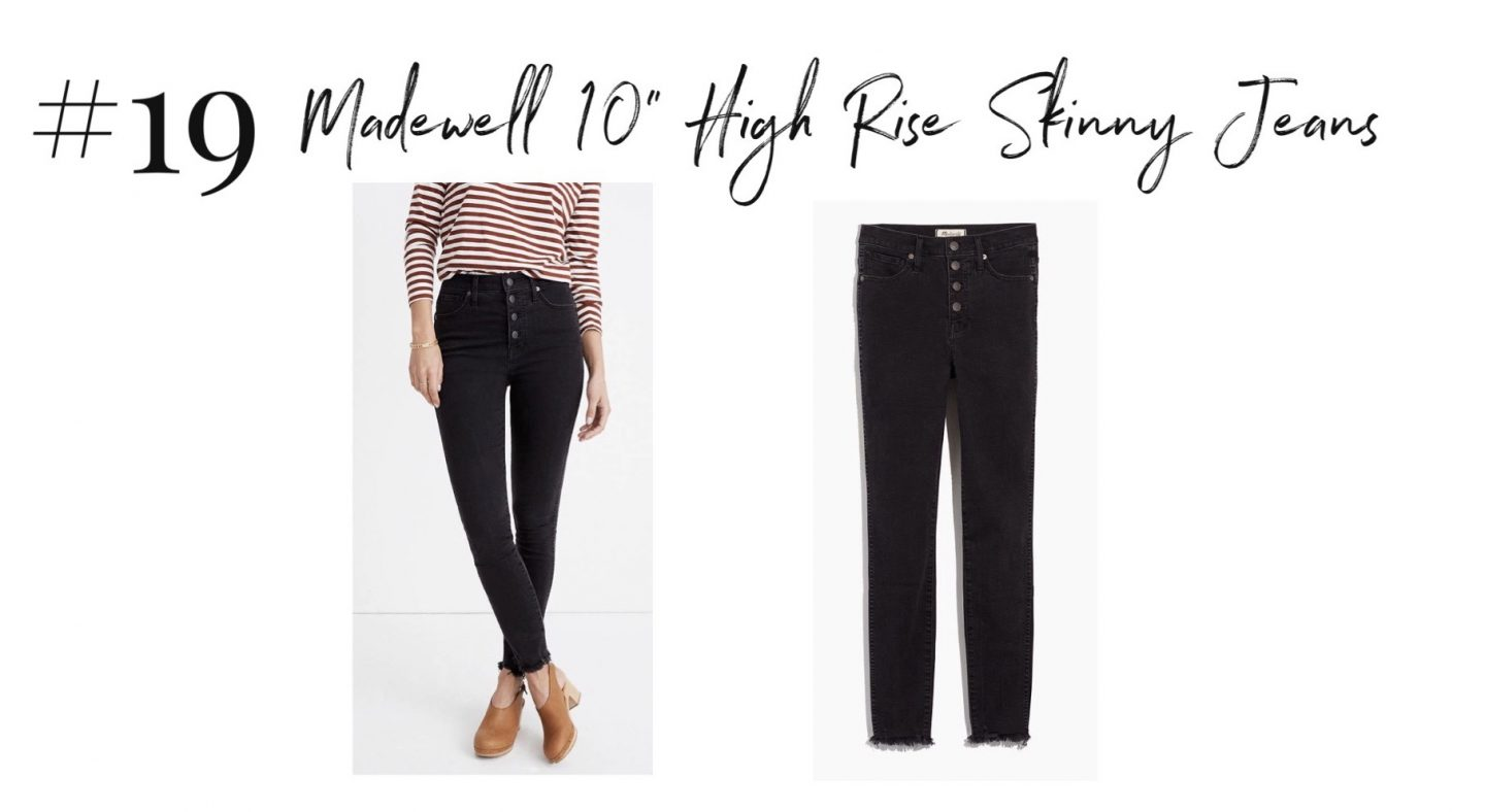 """best 2019 purchases featured by top San Diego life and style blog, Navy Grace: Madewell high rise jeans 
