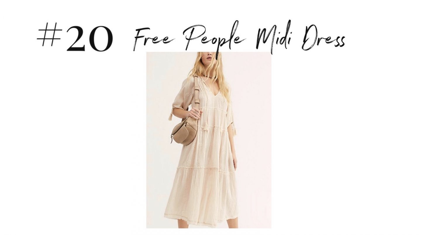 best 2019 purchases featured by top San Diego life and style blog, Navy Grace: Free People midi dress | 2019 Favorite Products by popular San Diego life and style blog, Navy Grace: image of a Free People Midi Dress.