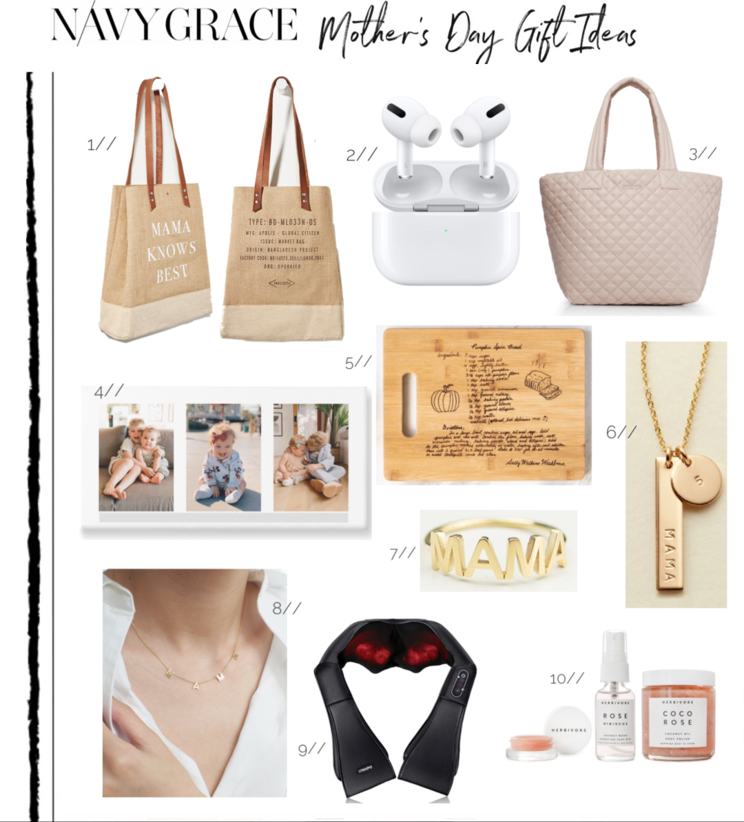 TOP 10 UNIQUE MOTHER'S DAY GIFTS TO SEND featured by top San Francisco lifestyle blog, Navy Grace.