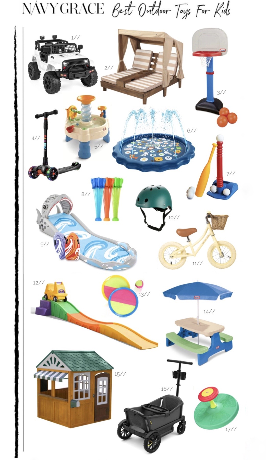 BEST OUTDOOR TOYS FOR KIDS ON AMAZON featured by top San Francisco lifestyle blog, Navy Grace.