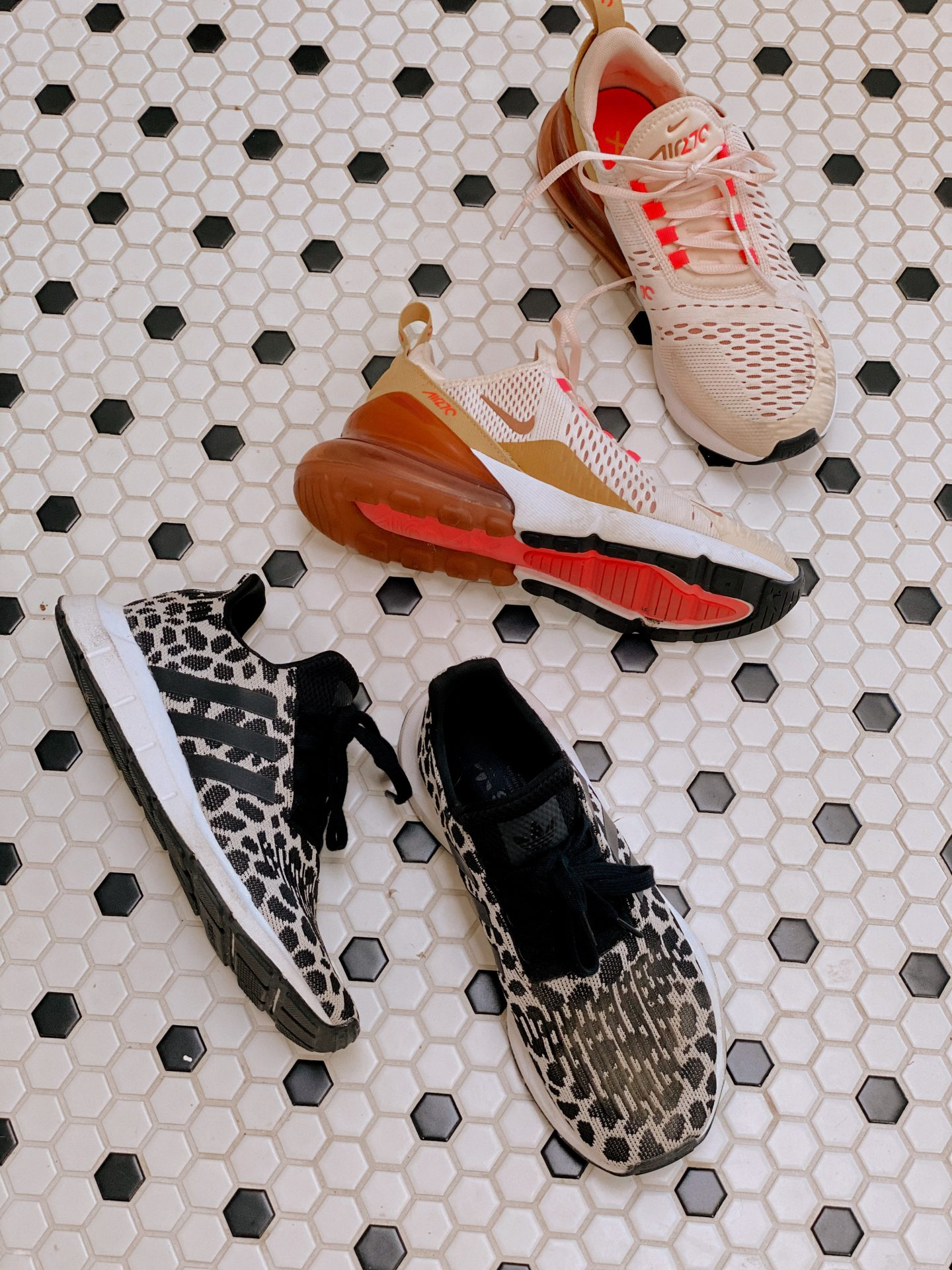 Nordstrom Anniversary Sale by popular San Diego fashion blog, Navy Grace: image of Nordstrom Swift Run Sneaker ADIDAS and Nordstrom Nike Air70 sneakers.