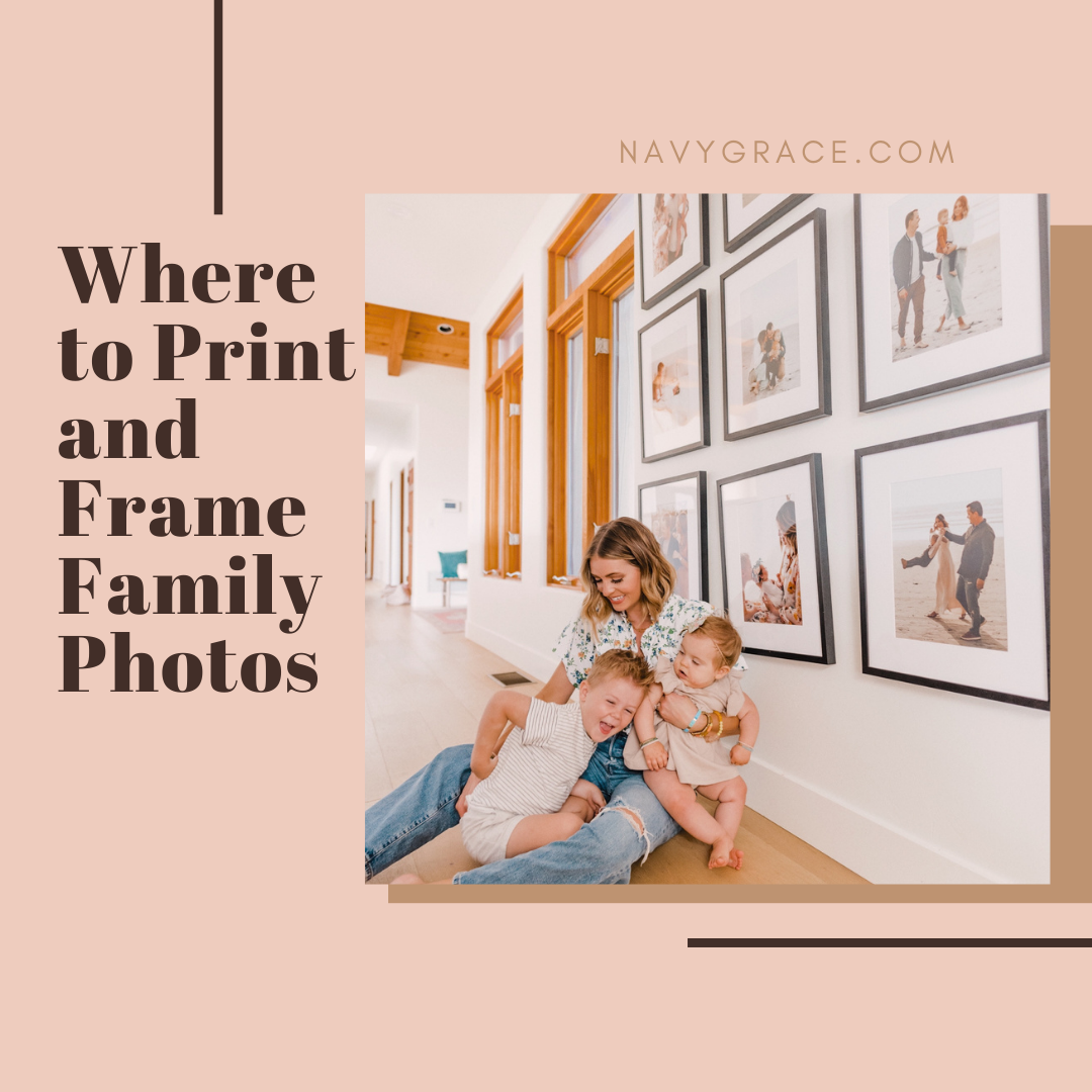 Popular Topics by San Diego lifestyle blog, Navy Grace: Pinterest image of a mom and her two kids sitting on the floor in front of a gallery wall.