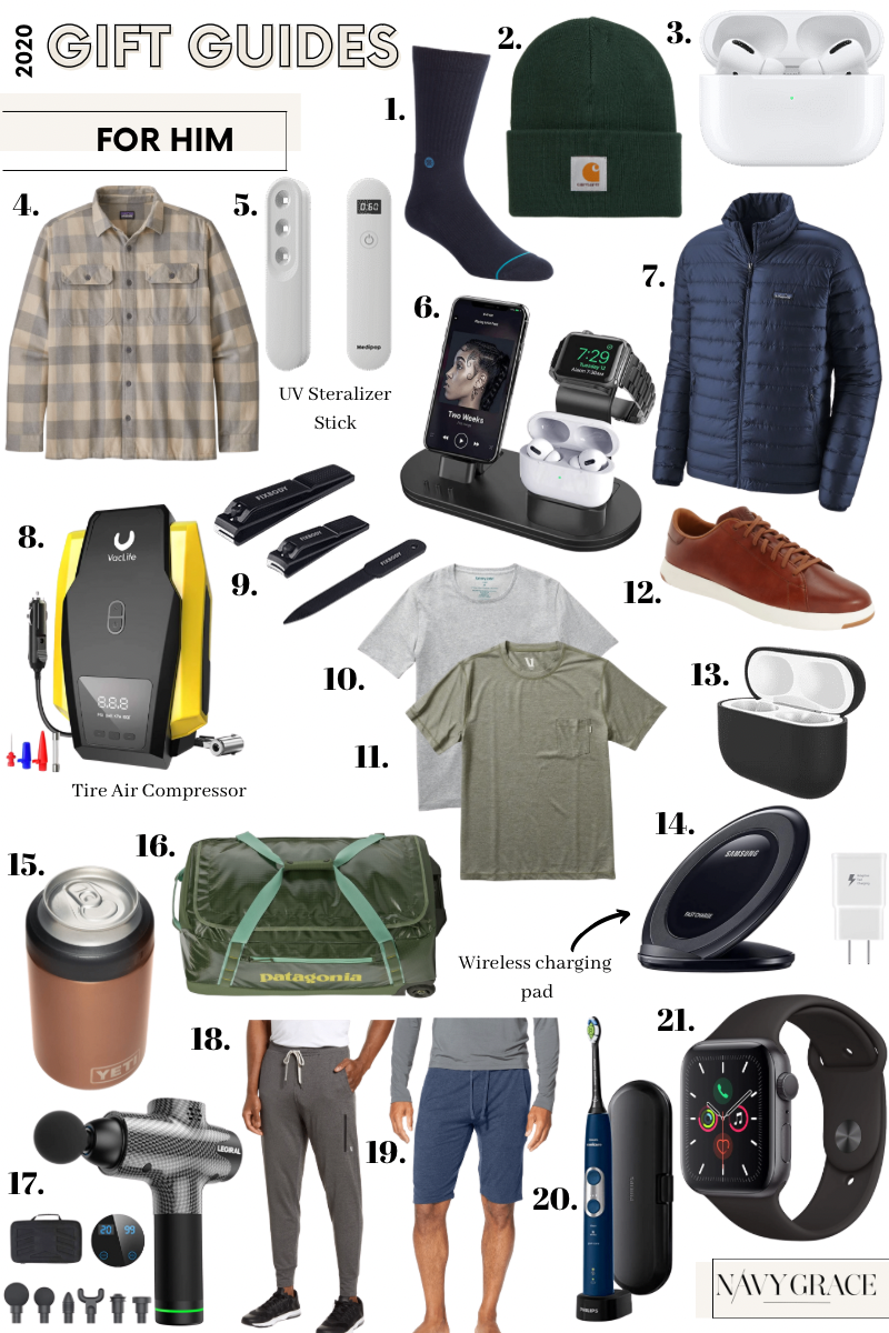 HOLIDAY GIFT GUIDE 2020: 21 BEST CHRISTMAS GIFTS FOR THE MAN WHO HAS EVERYTHING featured by top San Diego lifestyle blogger, Navy Grace