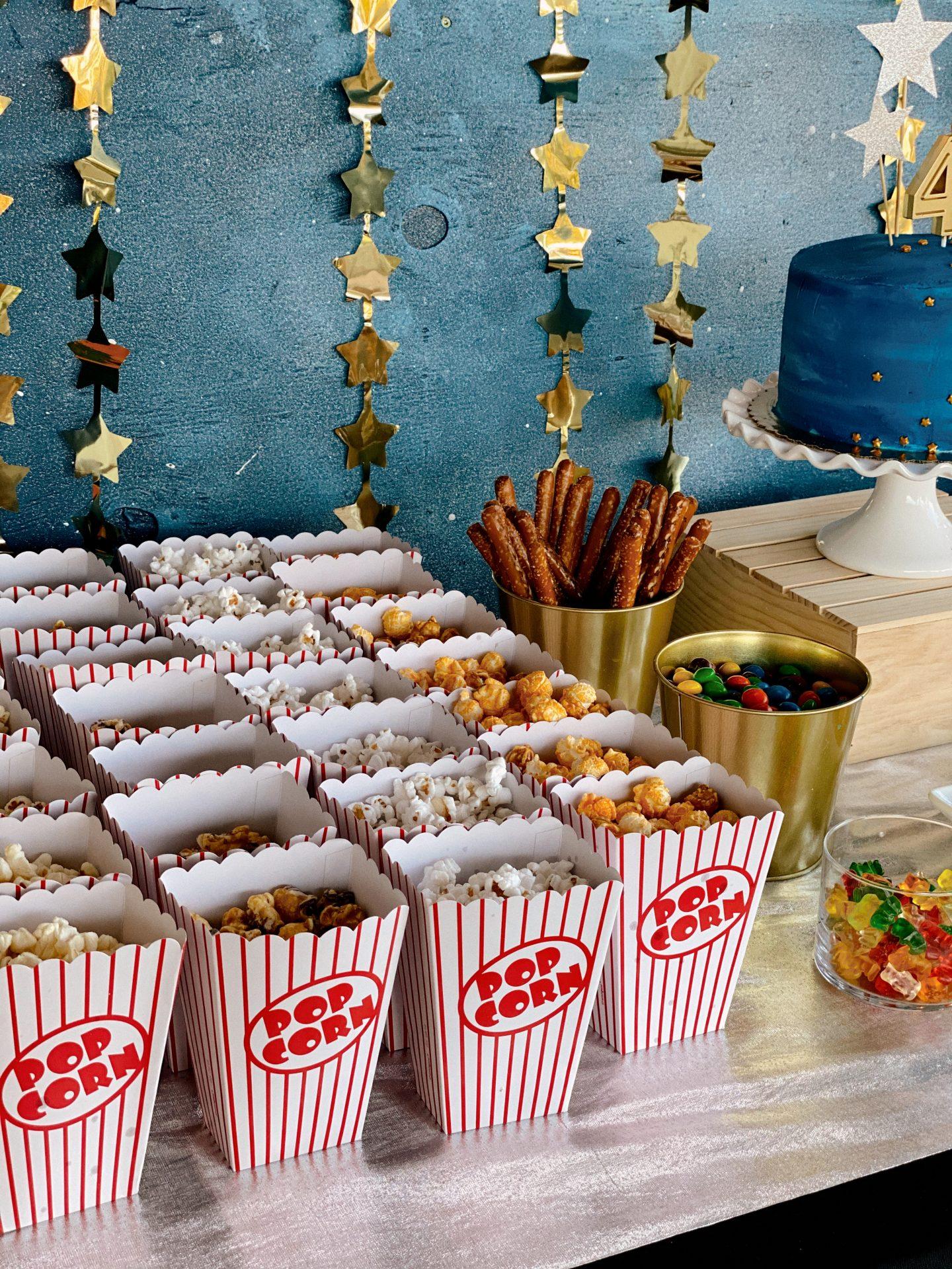 Starry Movie Night Themed 4th Birthday Party - Navy Grace - Camilla Thurman