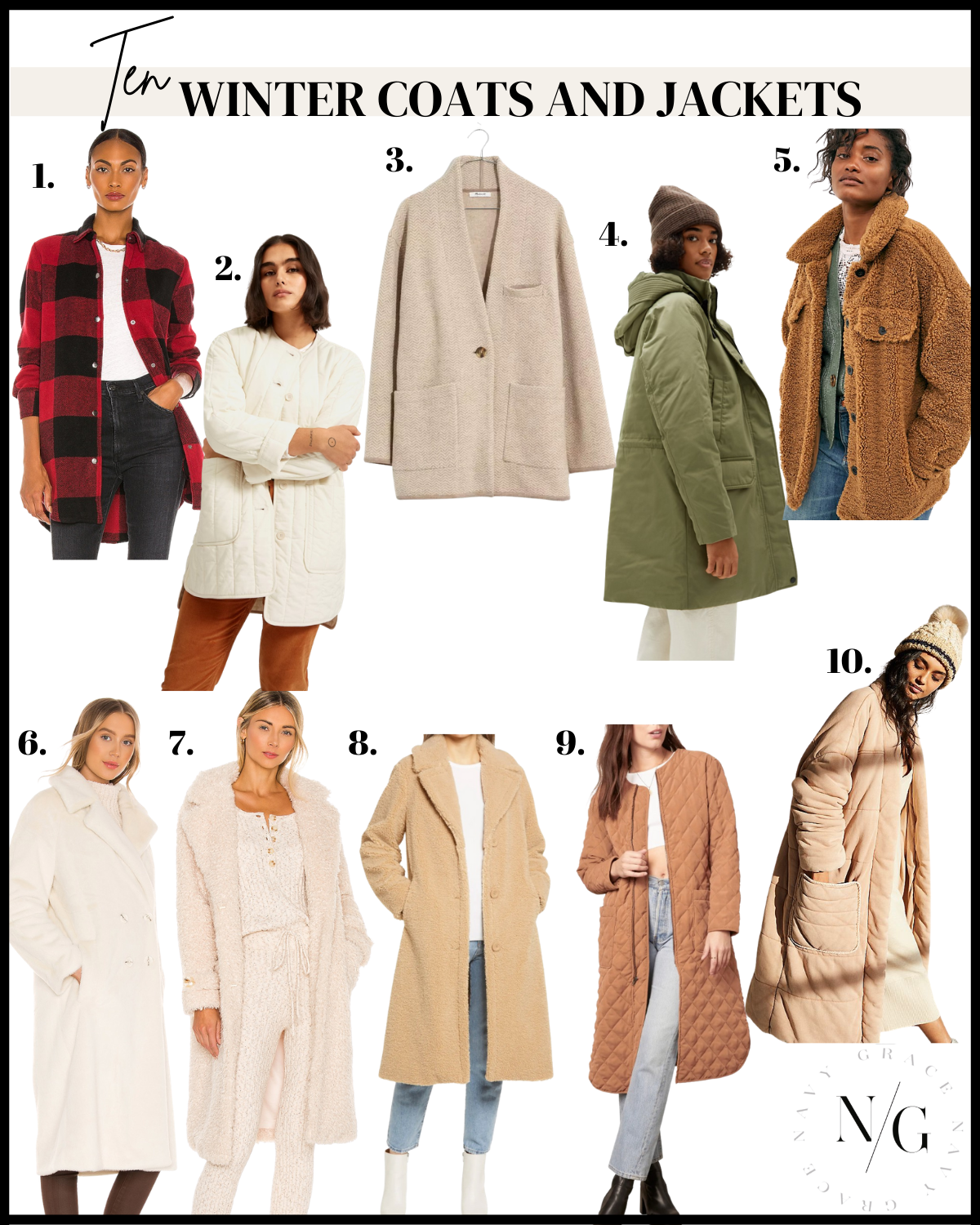 10 coats and jackets