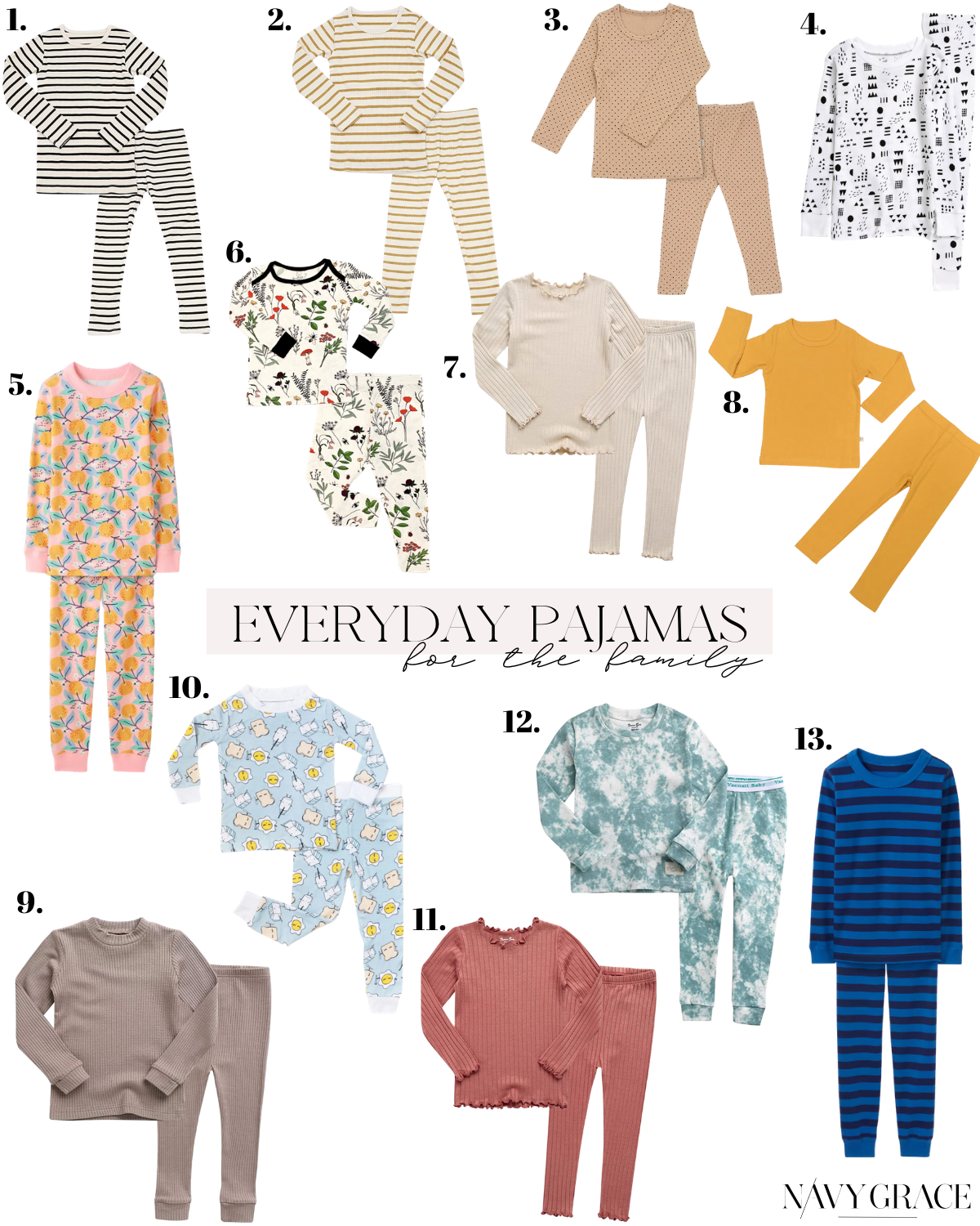 everyday pajamas for the family