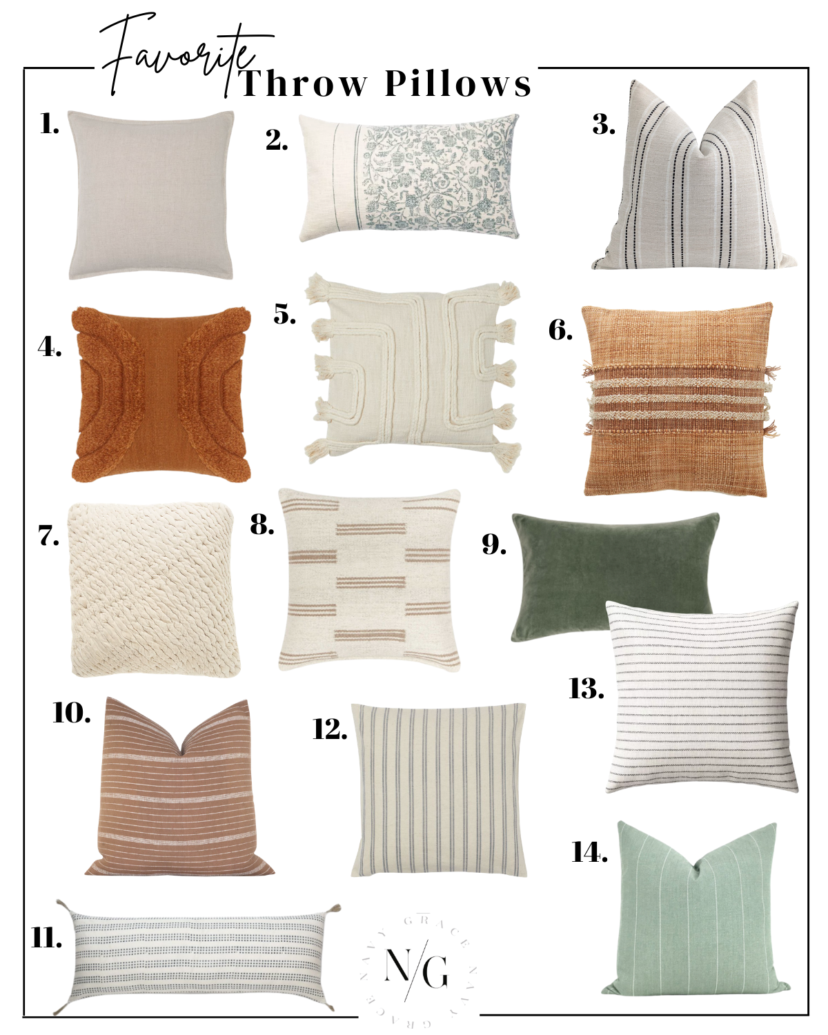 14 BEST THROW PILLOWS FOR THE SPRING SEASON