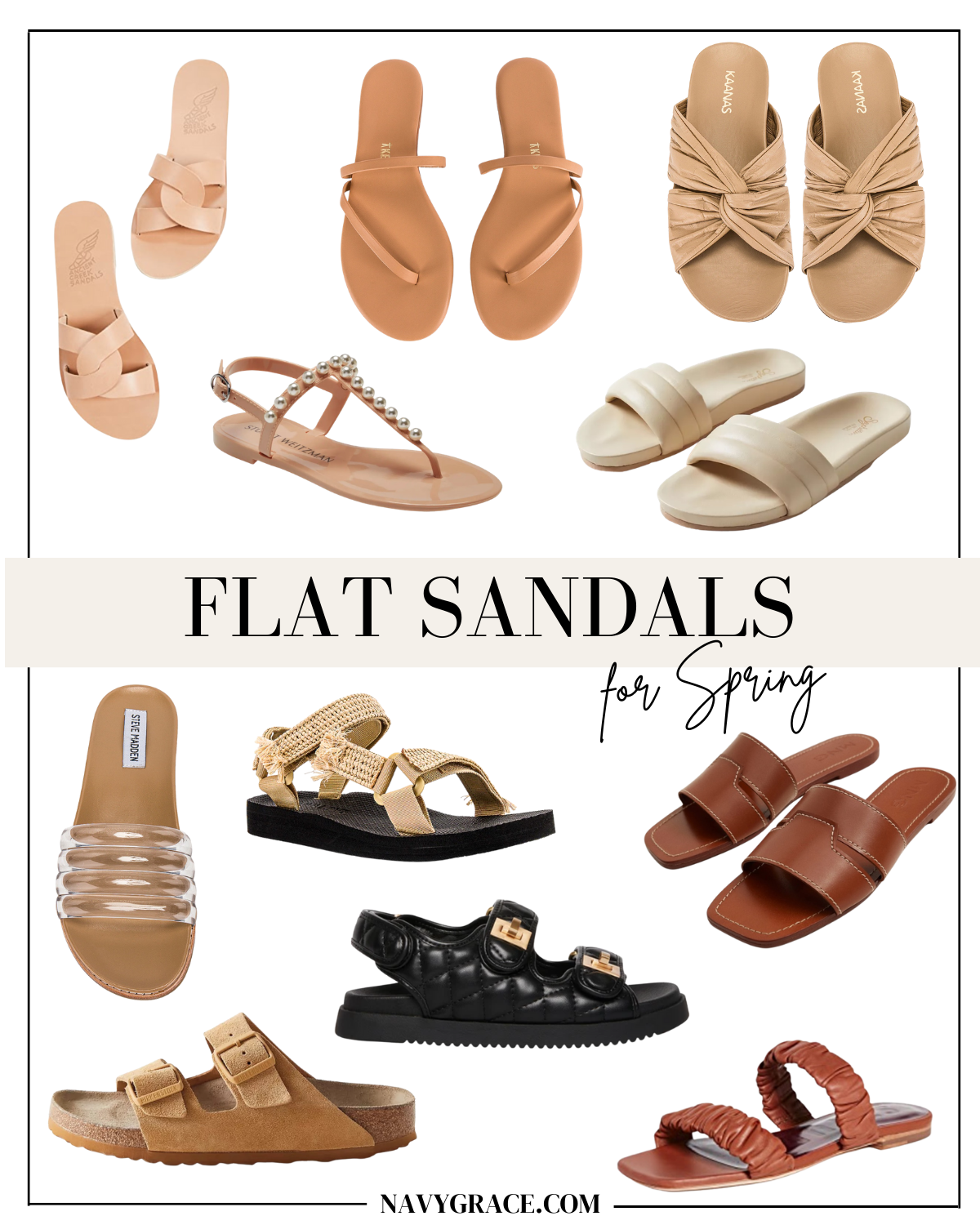 the best flat Spring Sandals