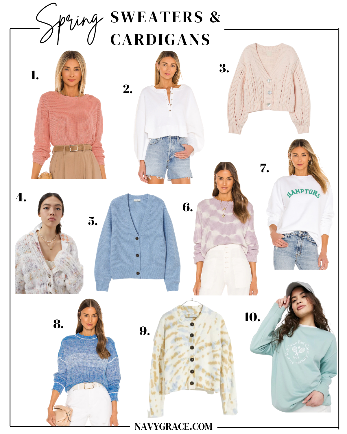 sweaters & Cardigans for spring
