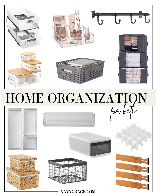bath organization essentials