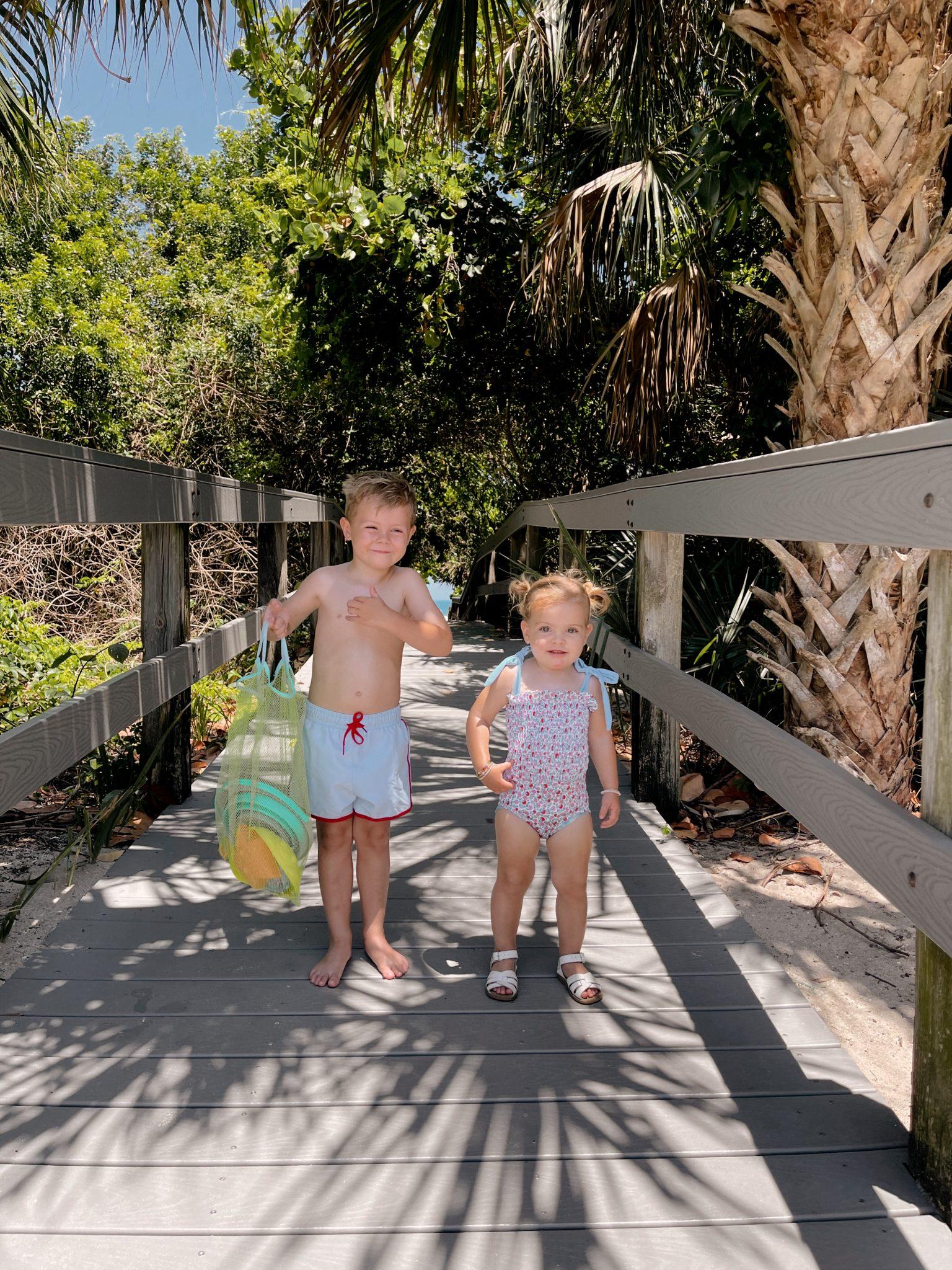 little kids summer beach look