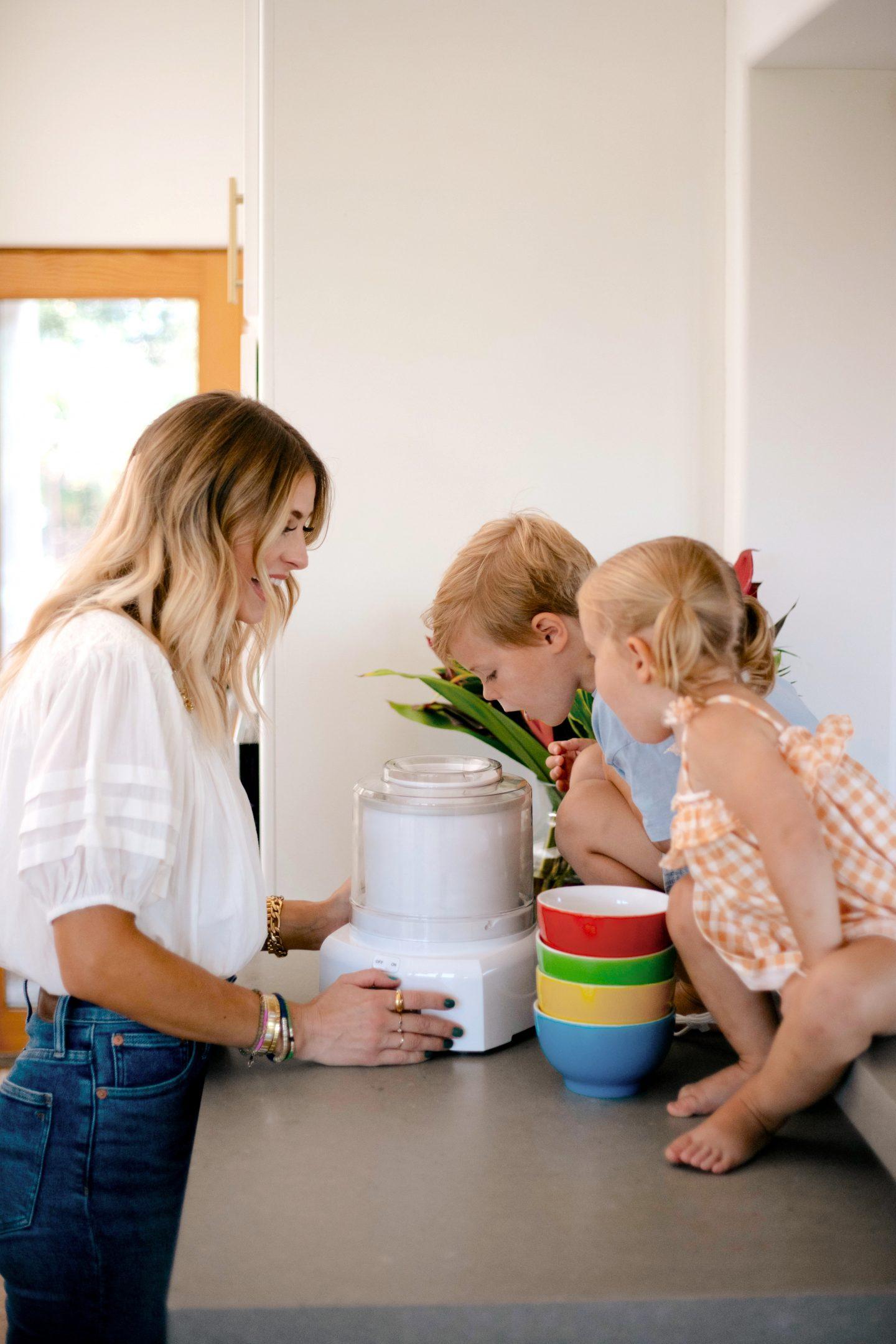 woman and children with Summer Kitchen Essentials