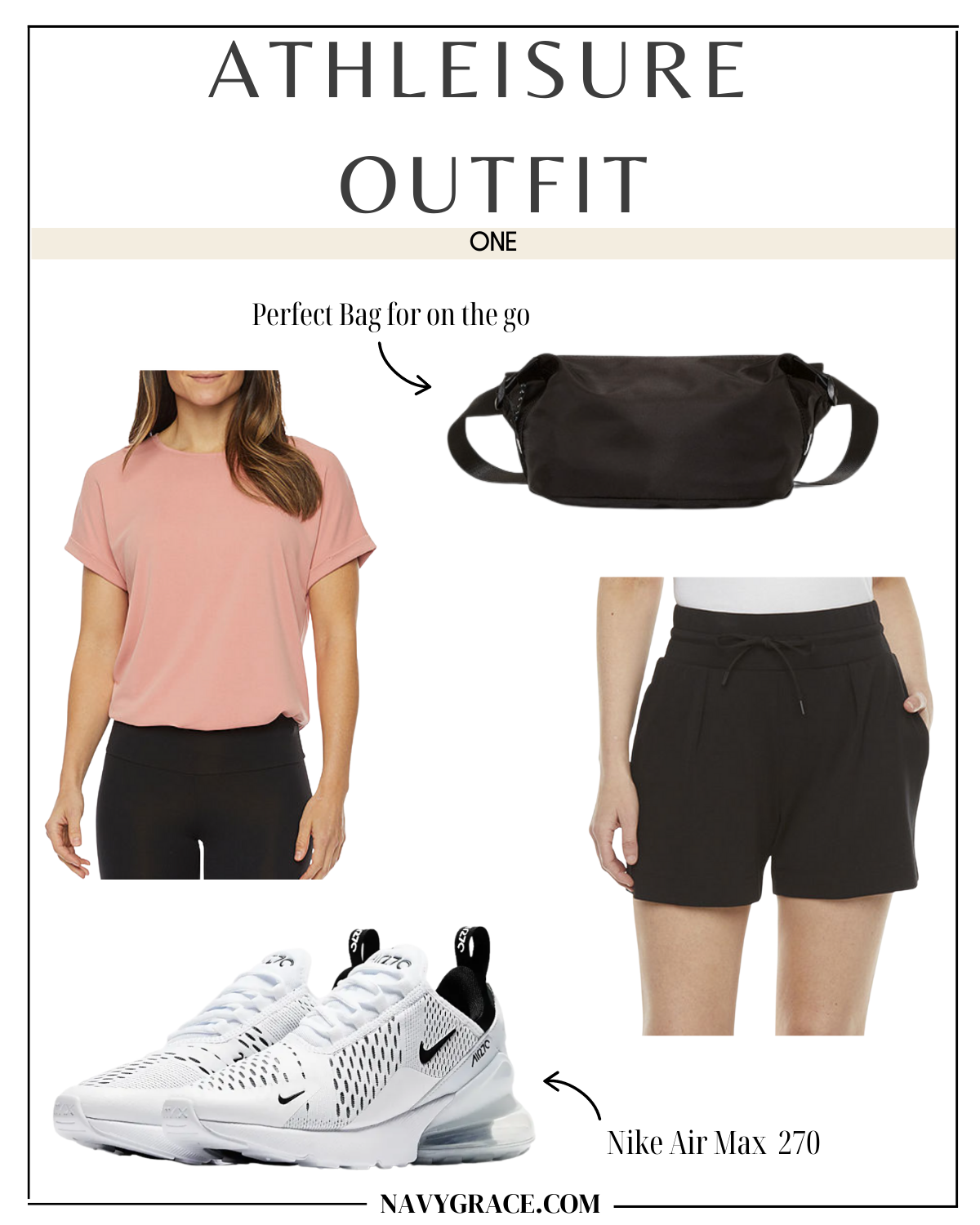 collage of clothes to share how to wear athleisure