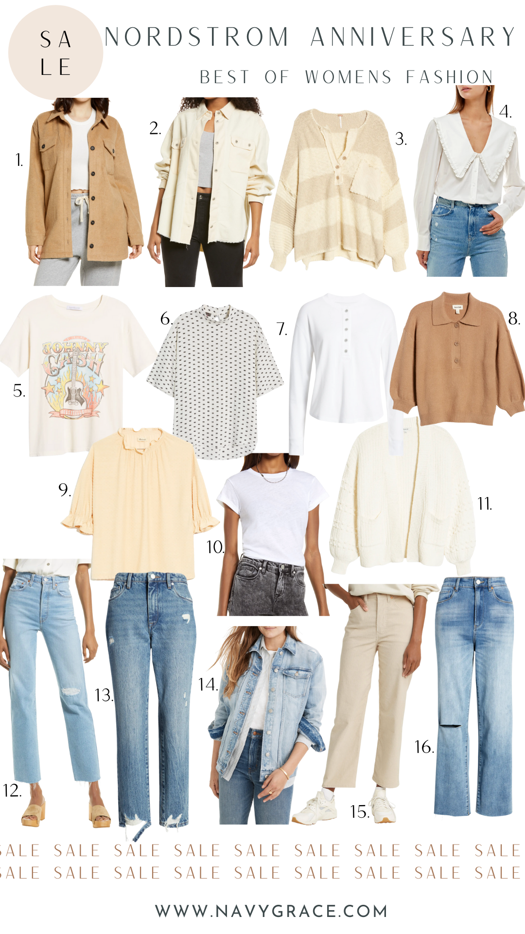 collage of women's clothes from Nordstrom Anniversary Sale 2021