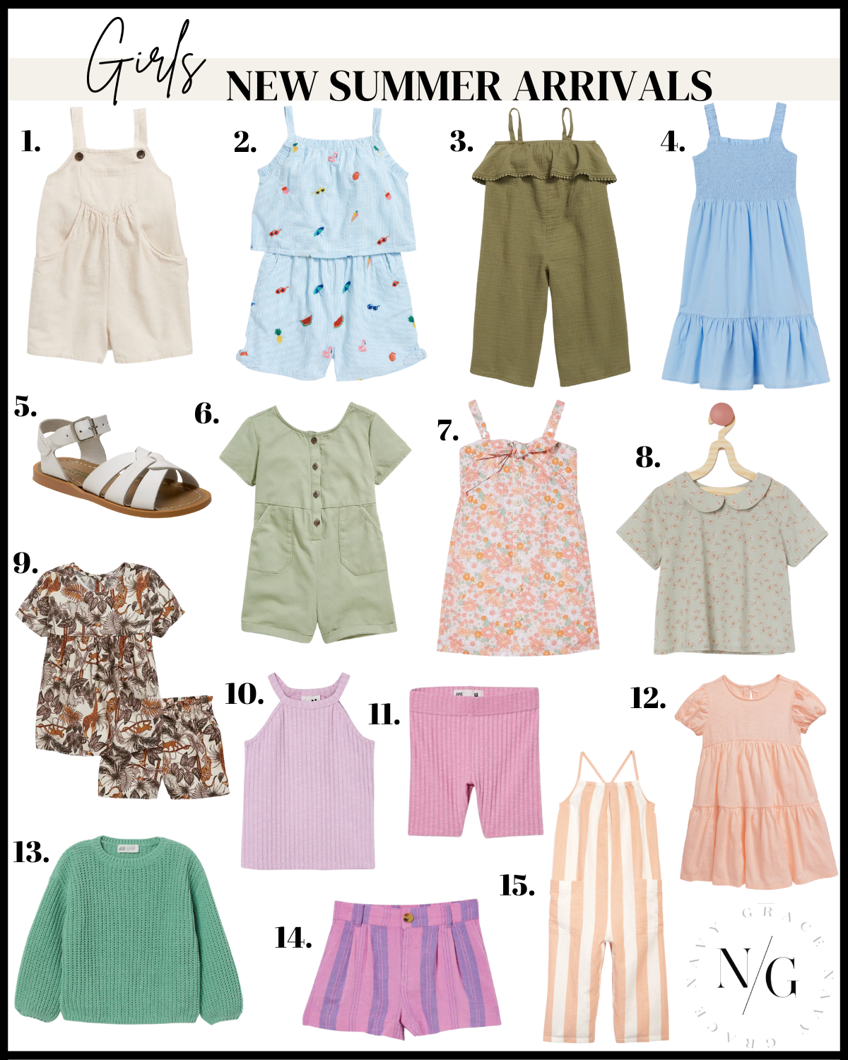 collage of Kids new summer arrivals for girls