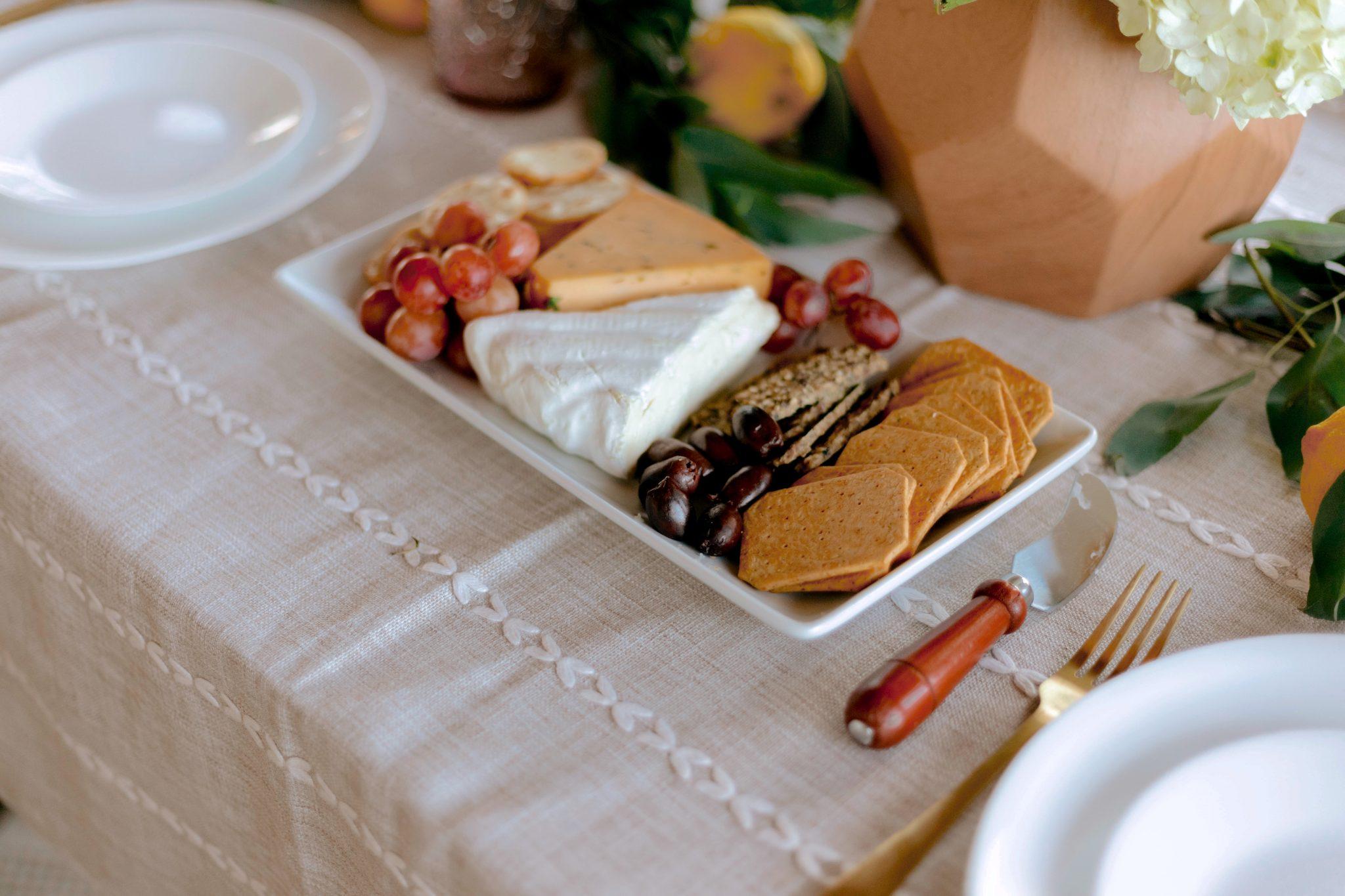 food on a platter