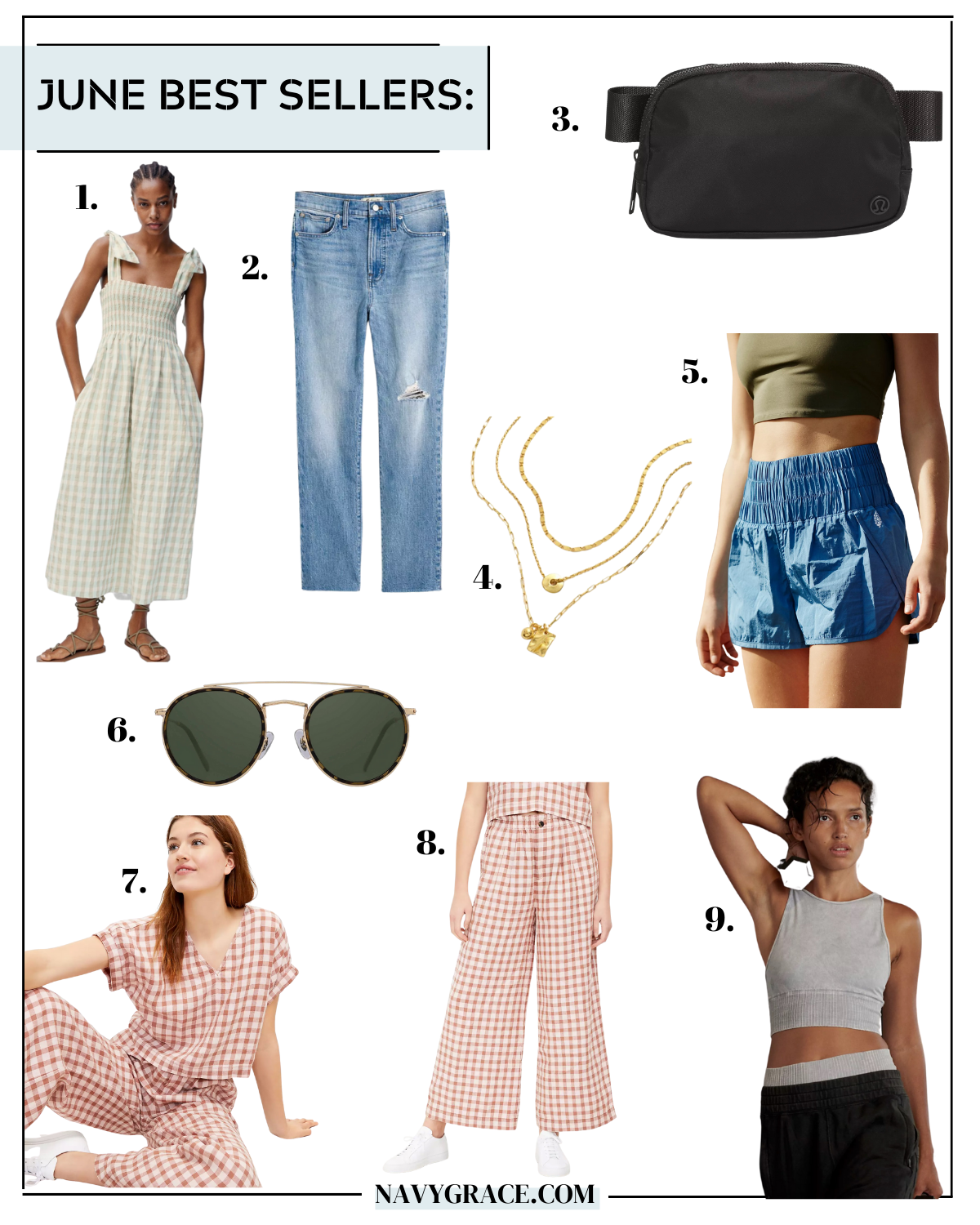 collage of clothes for June Best Sellers