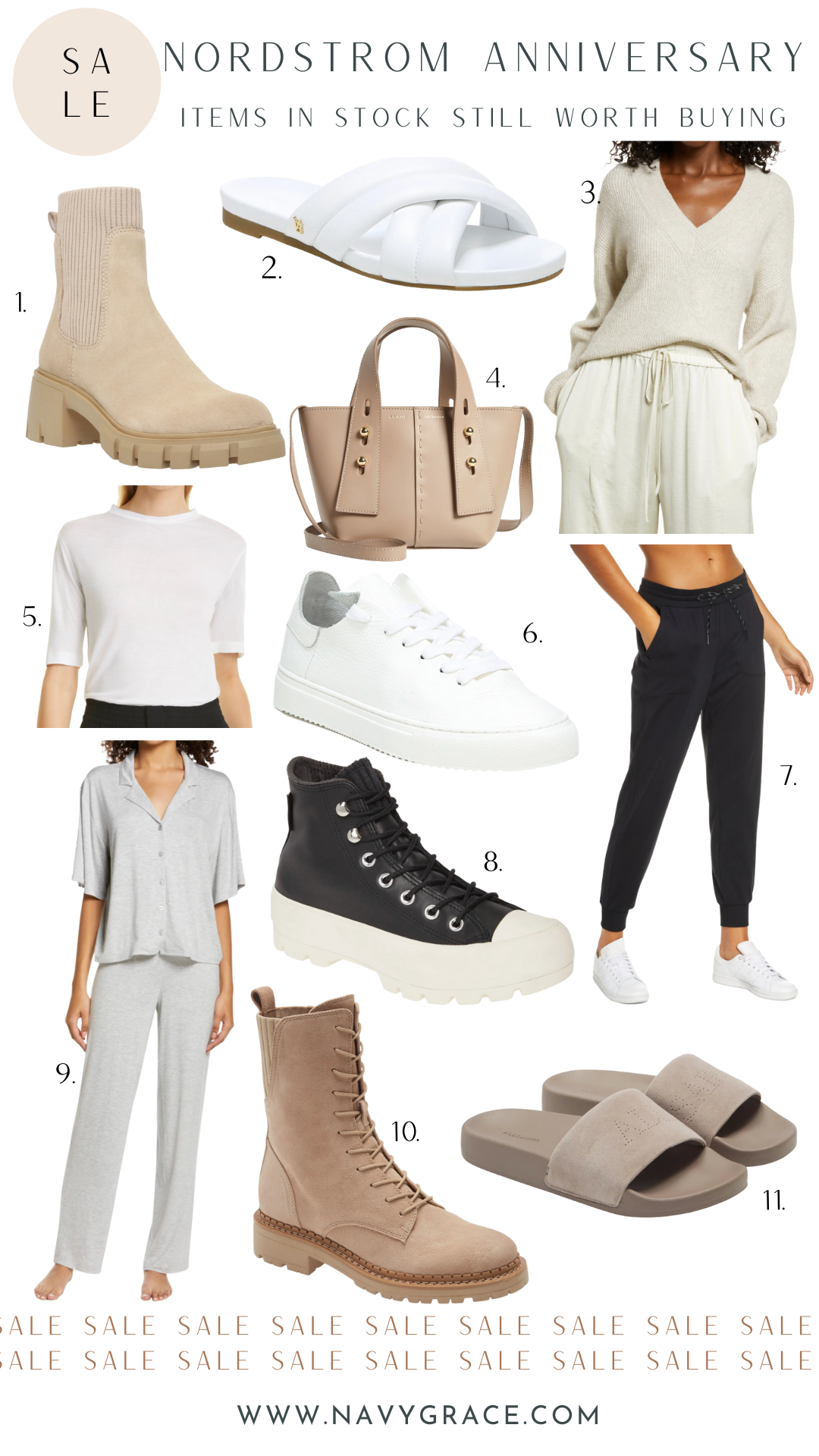 collage of Nordstrom Anniversary Sale favorites