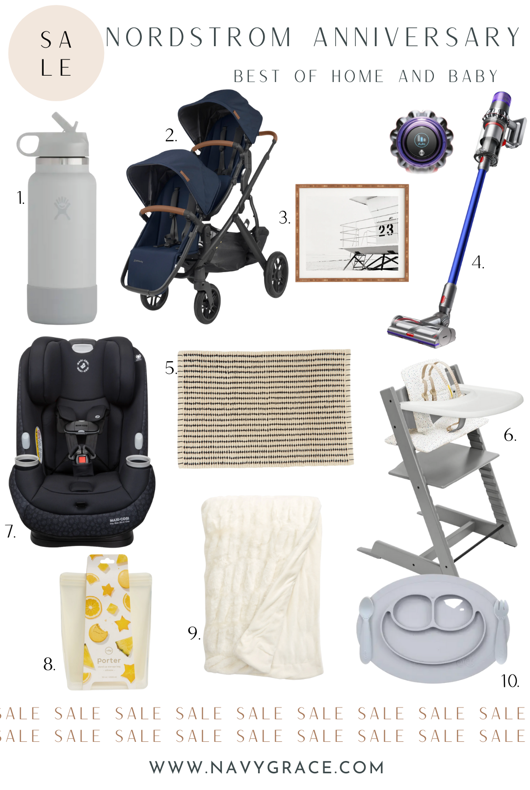 collage of home and baby items from nordstrom anniversary sale 2021